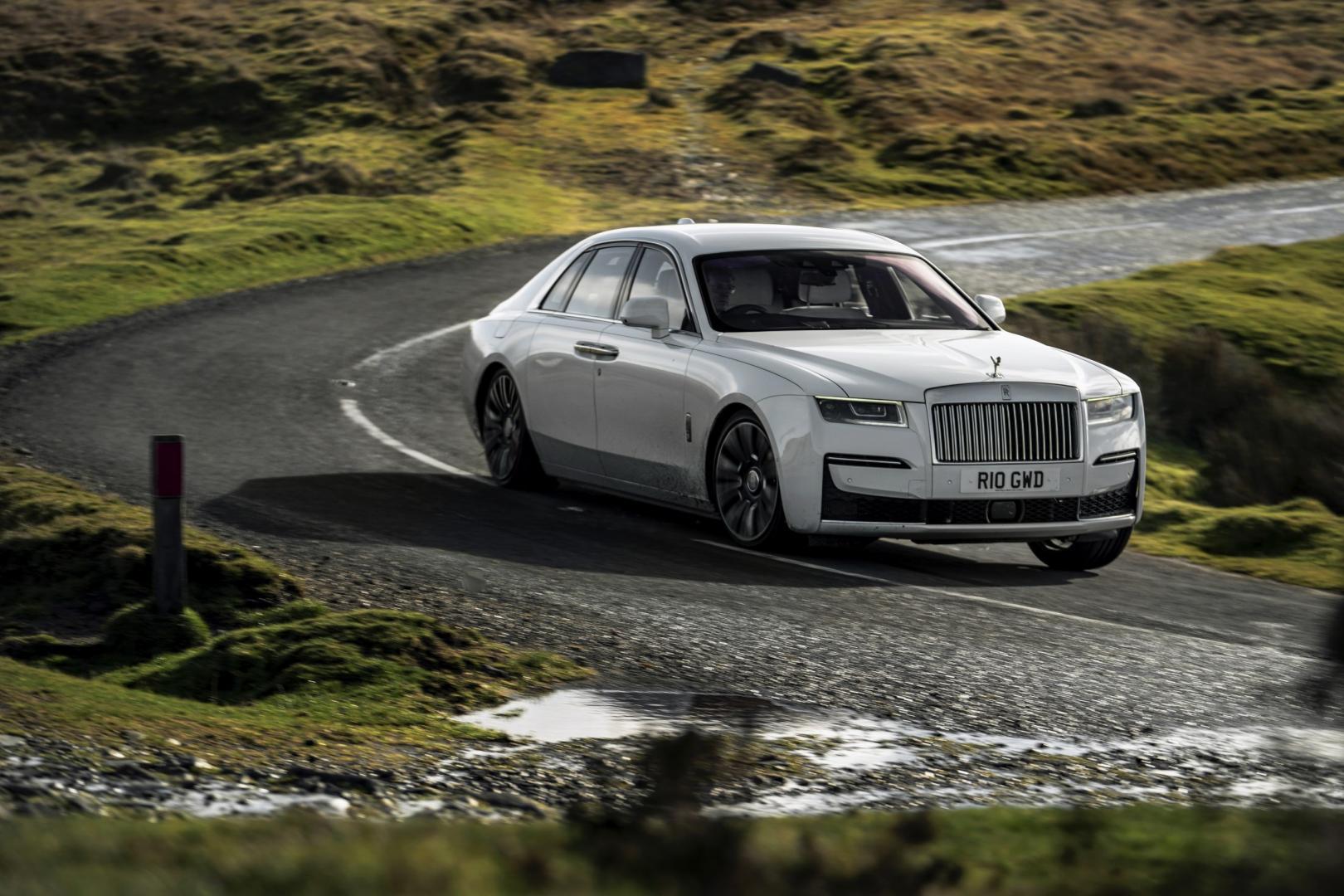 Rolls-Royce Ghost in de bocht