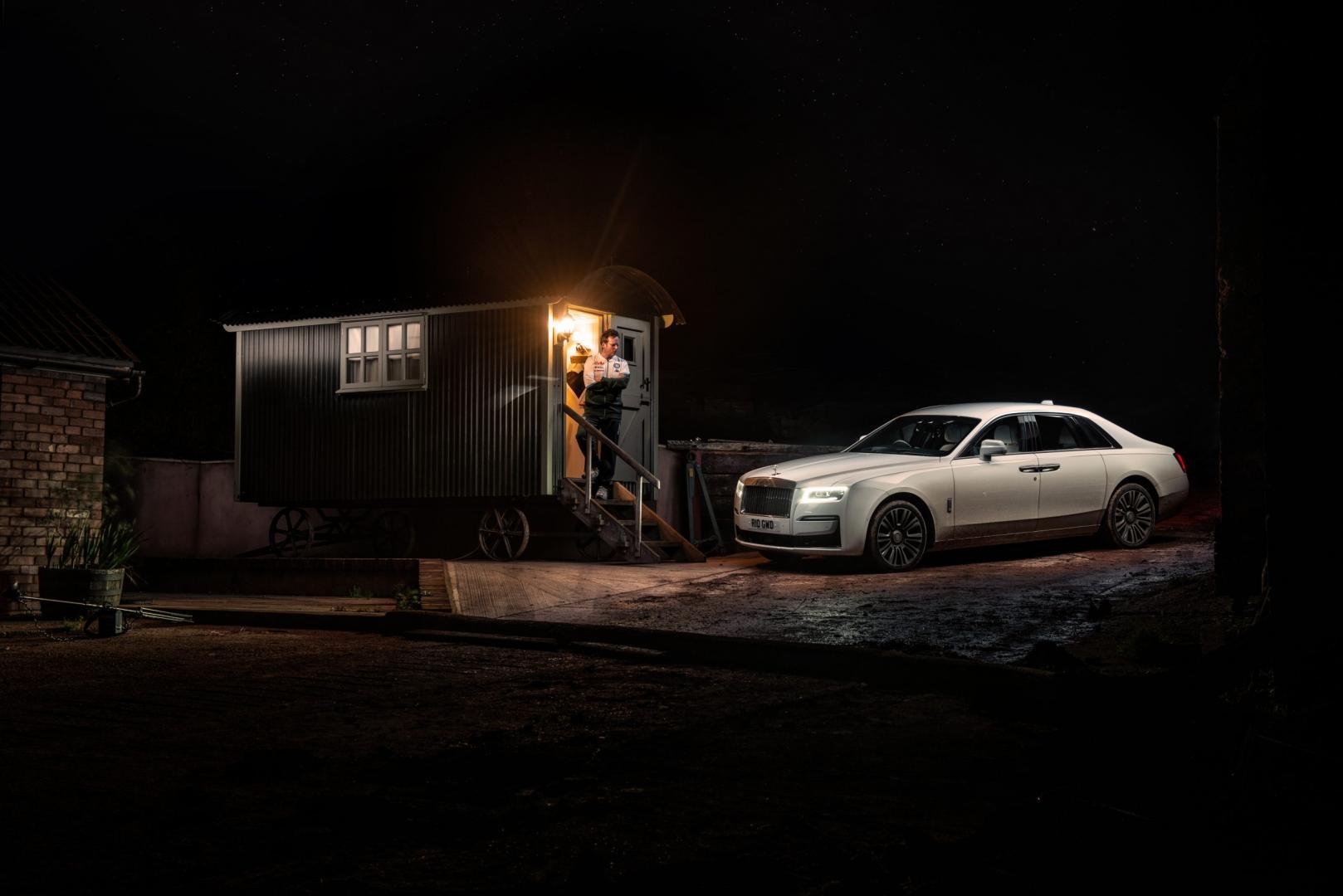 Rolls-Royce Ghost in het donker