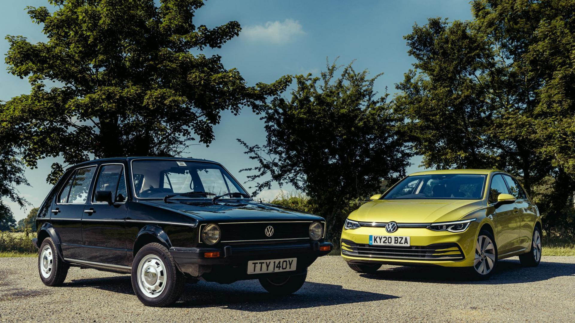 Volkswagen Golf VIII 2020 vs Volkswagen Golf I 1982