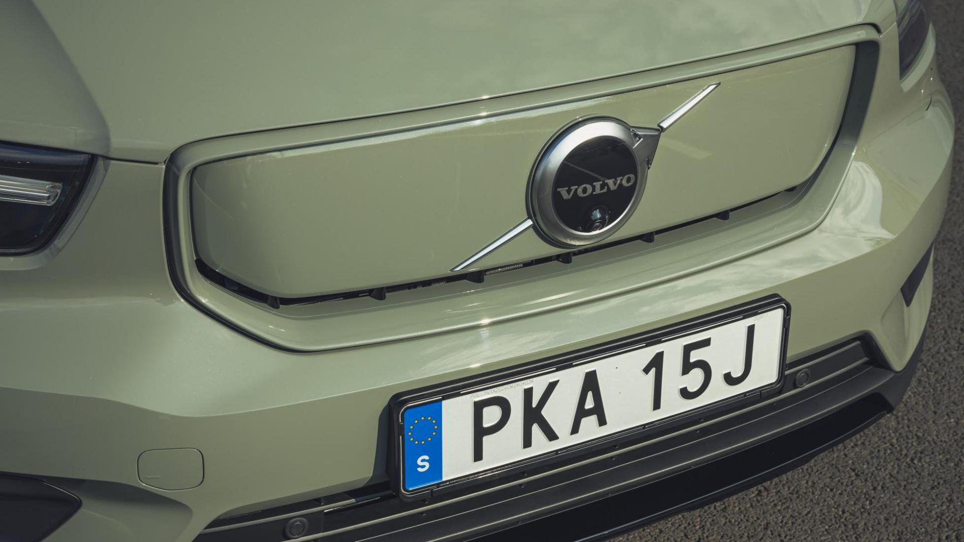 Dichte grille van de Volvo XC40 Recharge P8 AWD