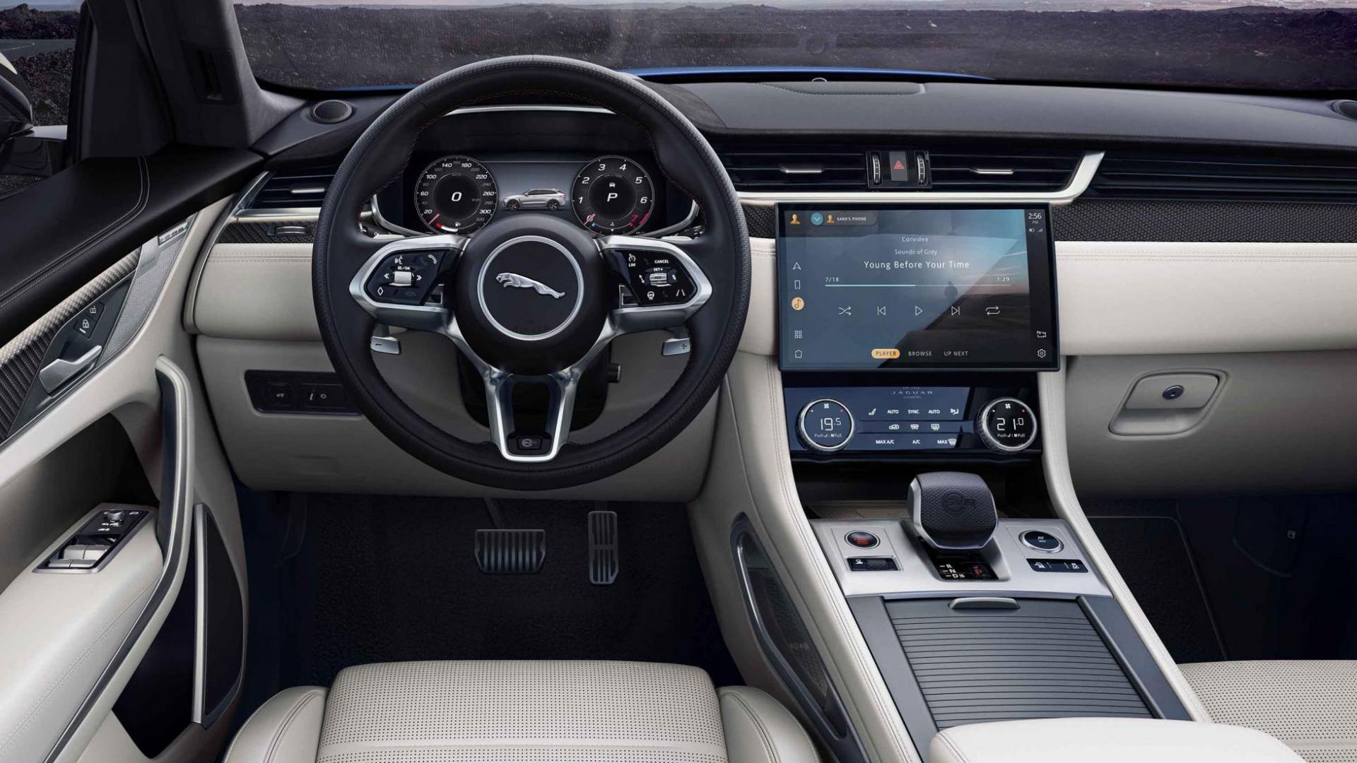 Dashboard Jaguar F-Pace SVR facelift 2020