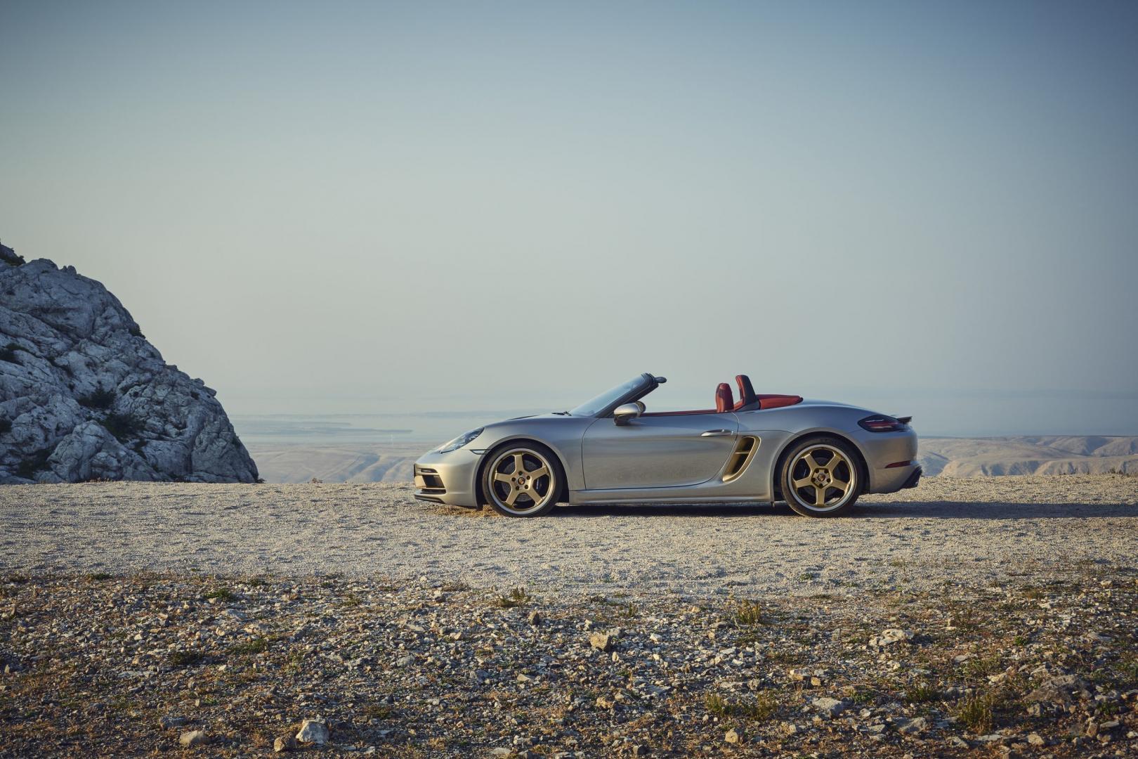 Zijkant Porsche Boxster 25 Years