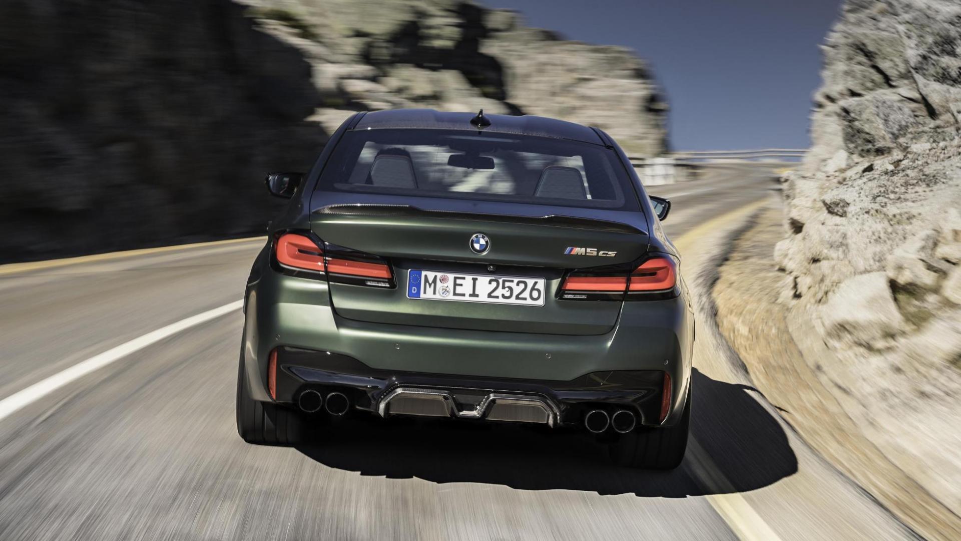 Achterkant BMW M5 CS 2021 (G30)