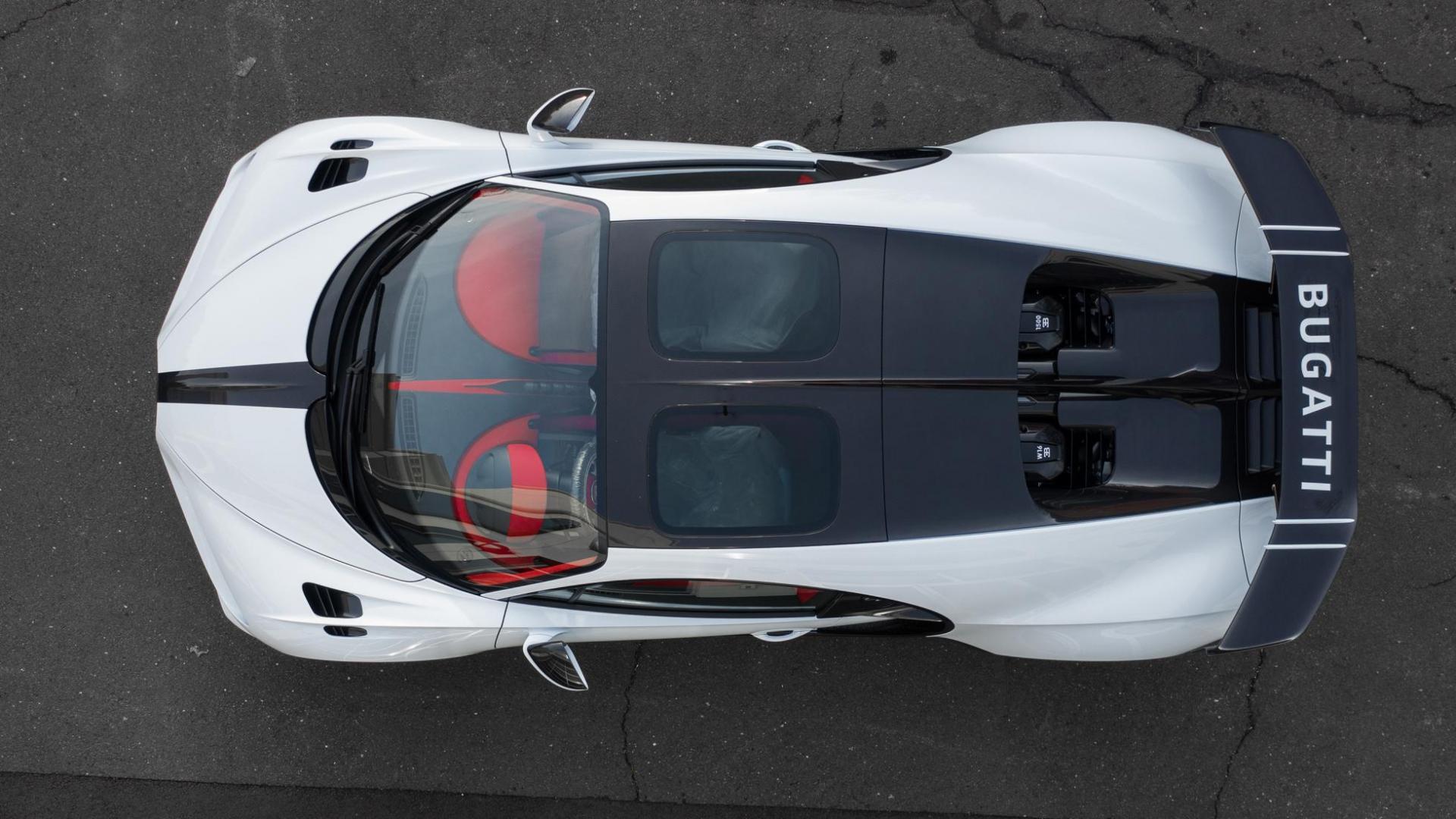 Bovenaanzicht eerste Bugatti Chiron Pur Sport