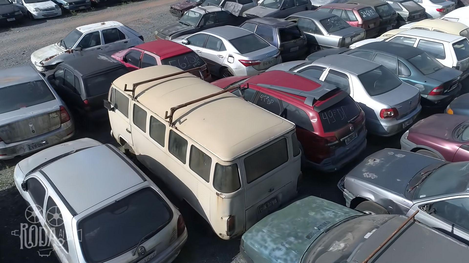 Volkswagen T2 op de sloop