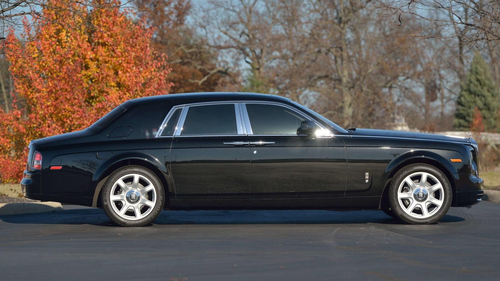 Zijkant Rolls-Royce van Donald Trump