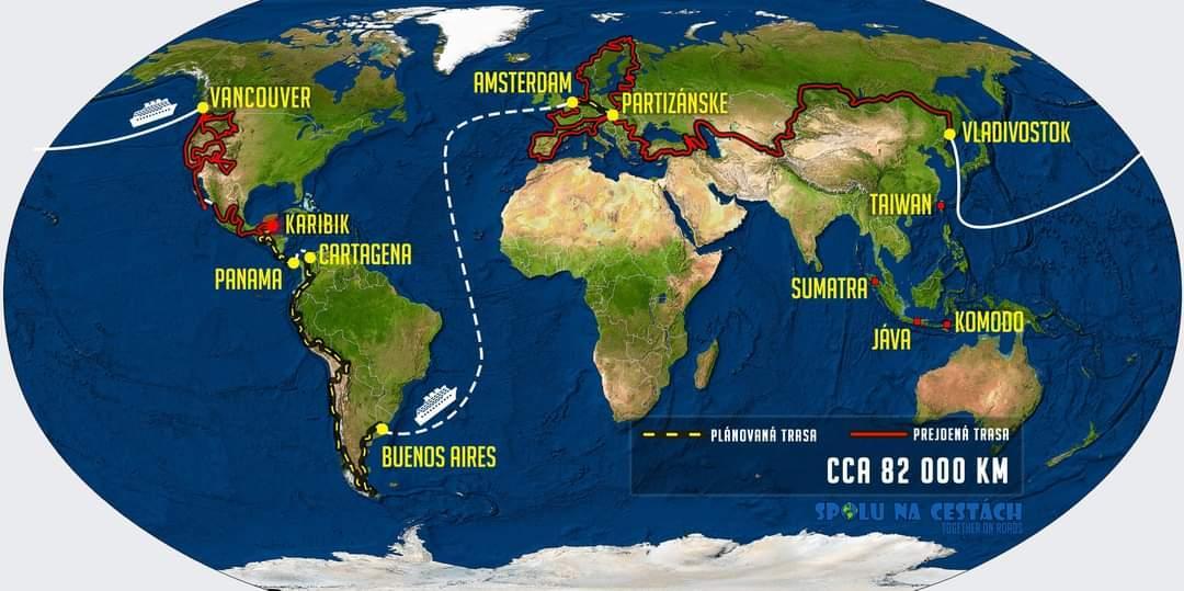 Kaart van reis