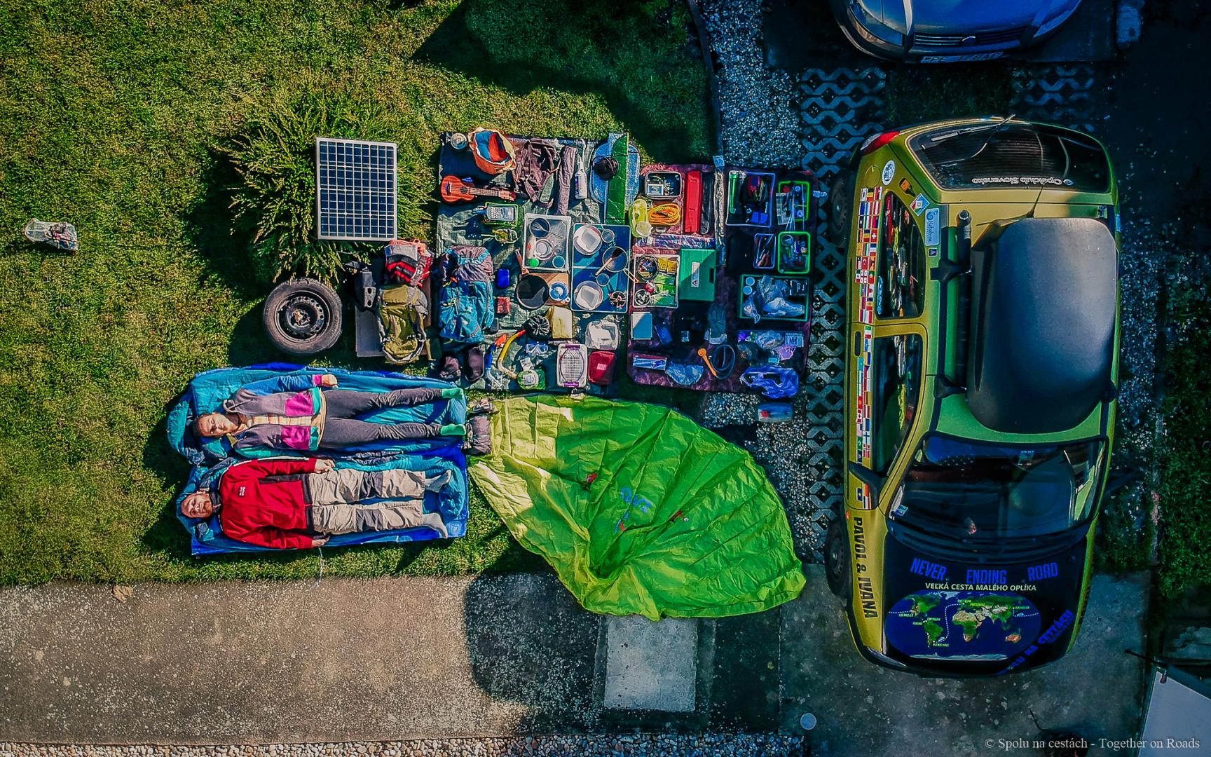 Alle spullen in de Opel Corsa