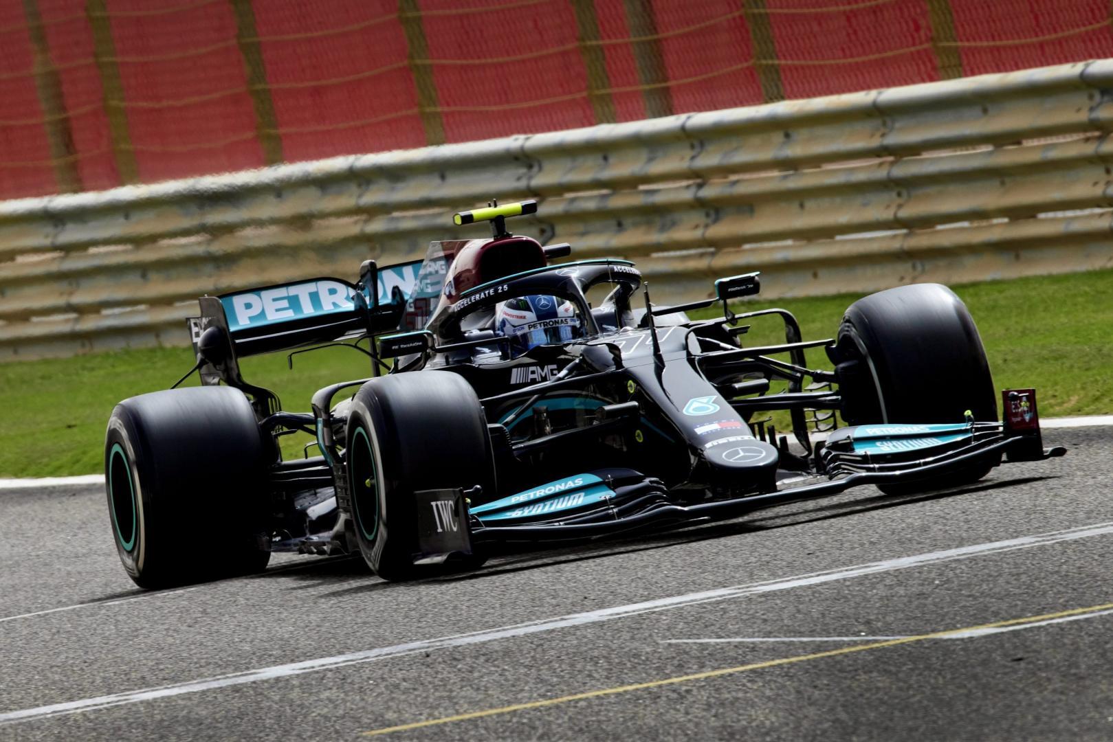 1e vrije training van de GP van Bahrein 2021