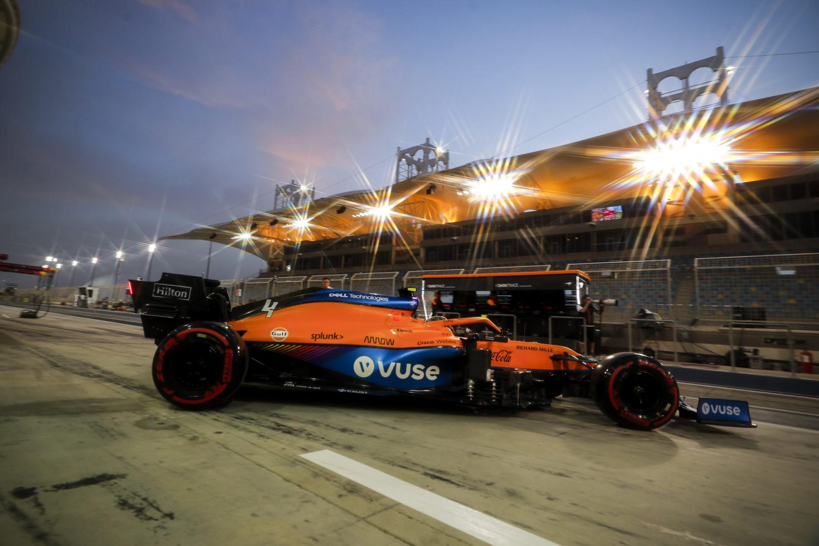 2e vrije training van de GP van Bahrein 2021