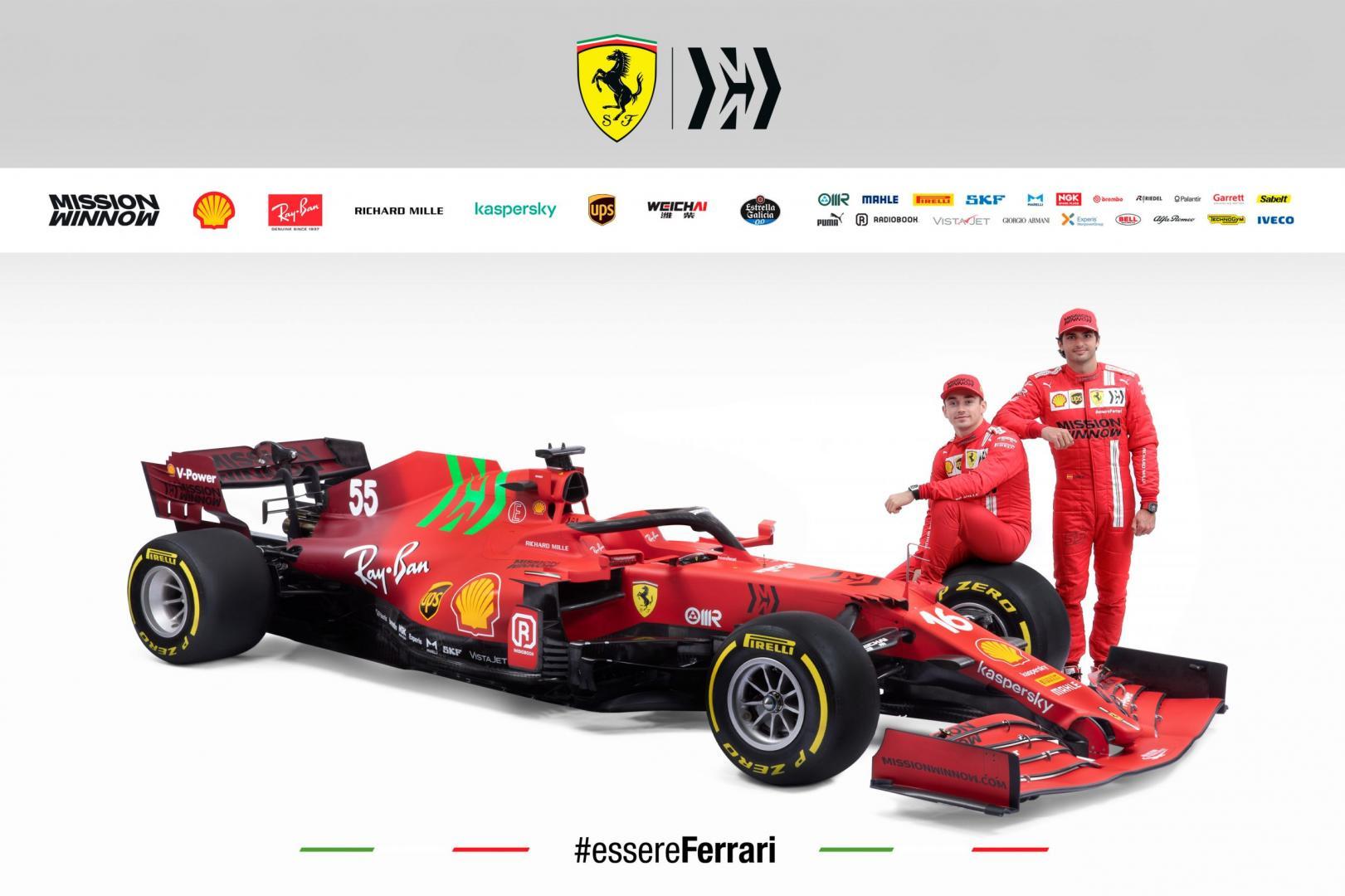 Ferrari SF21 voor 2021 met Carlos Sainz Jr. en Charles Leclerc
