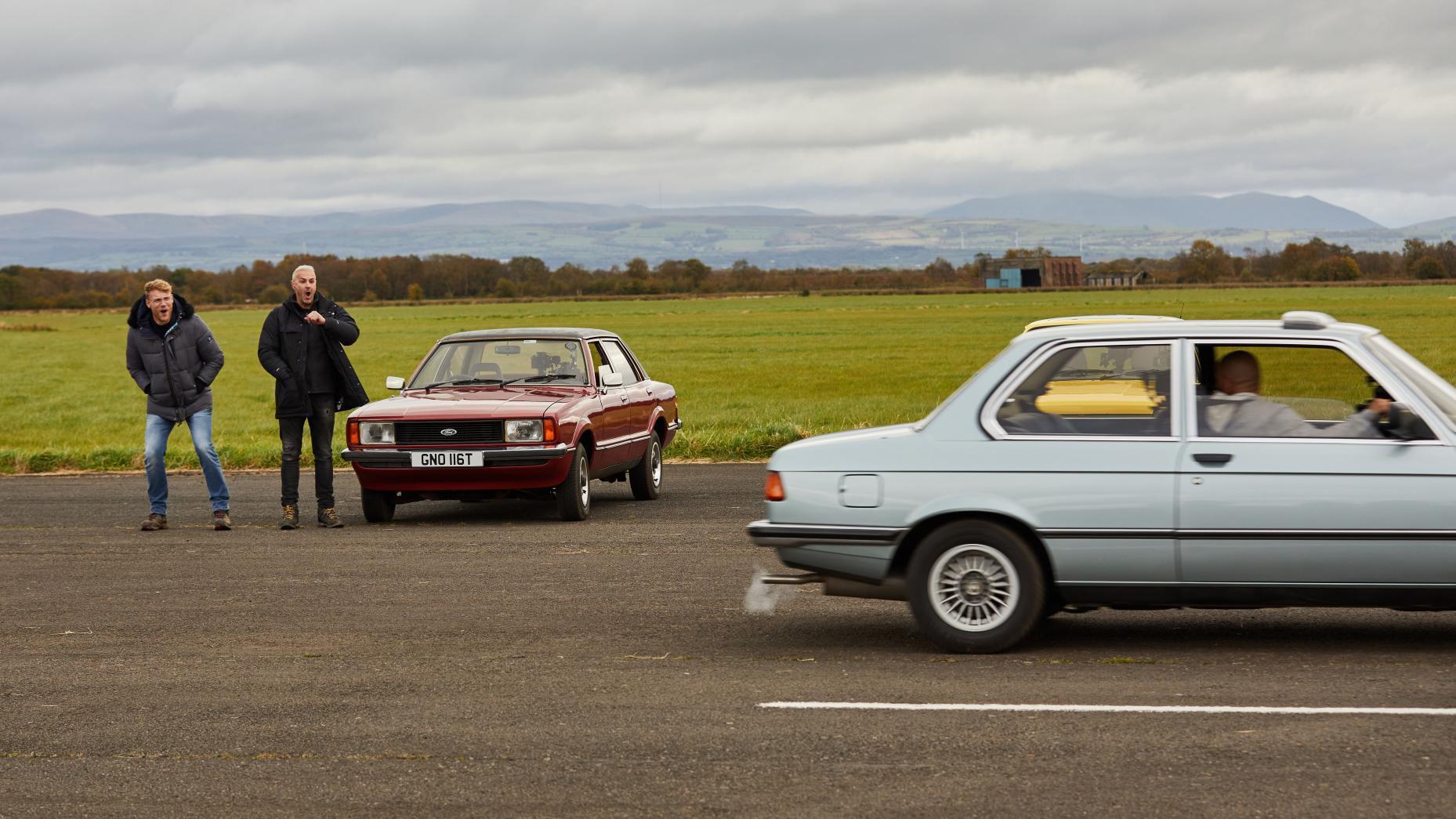 Ford Cortina en BMW 323i E21 (3-serie)