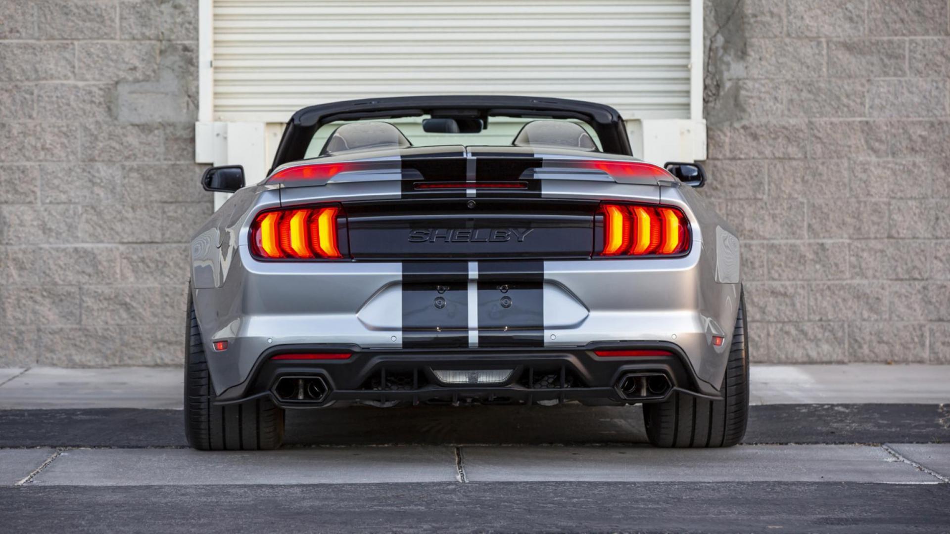 Achterkant Ford Mustang Shelby Super Snake Speedster (2021)