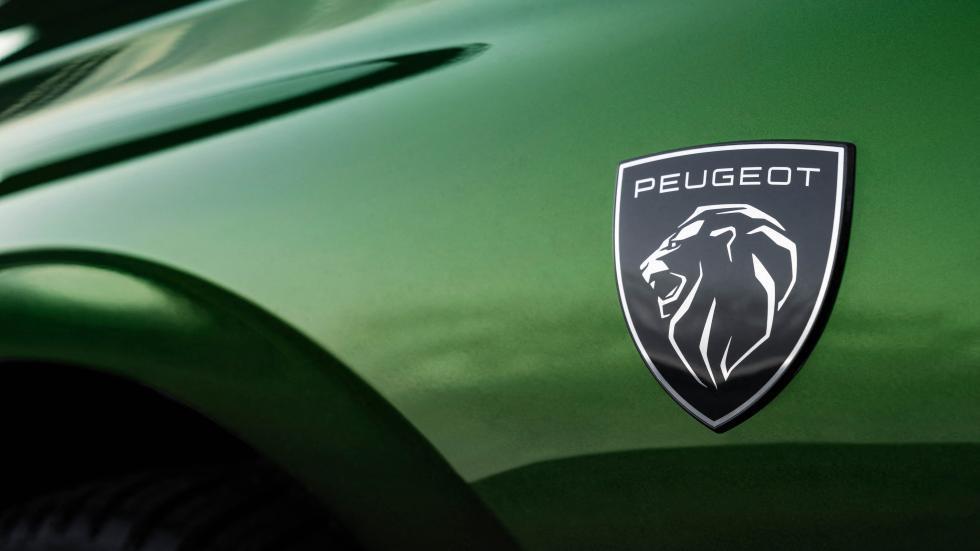 Nieuwe logo op voorscherm Peugeot 308 (2021)