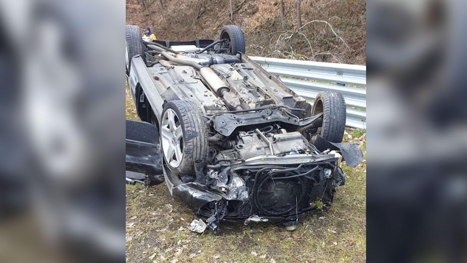 Peugeot 206 RC Nurburgring crash