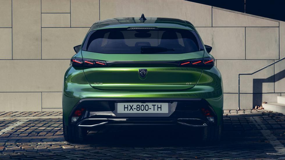 Peugeot 308 (2021) in het groen