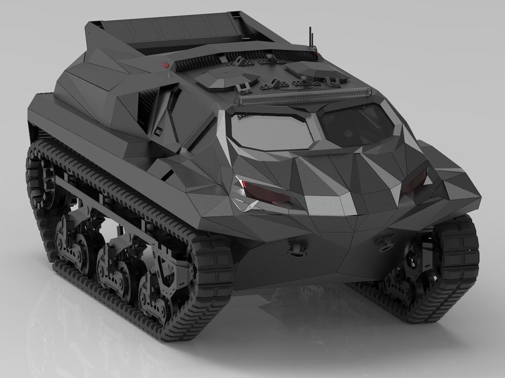 Highland Storm is een amfibisch pantservoertuig