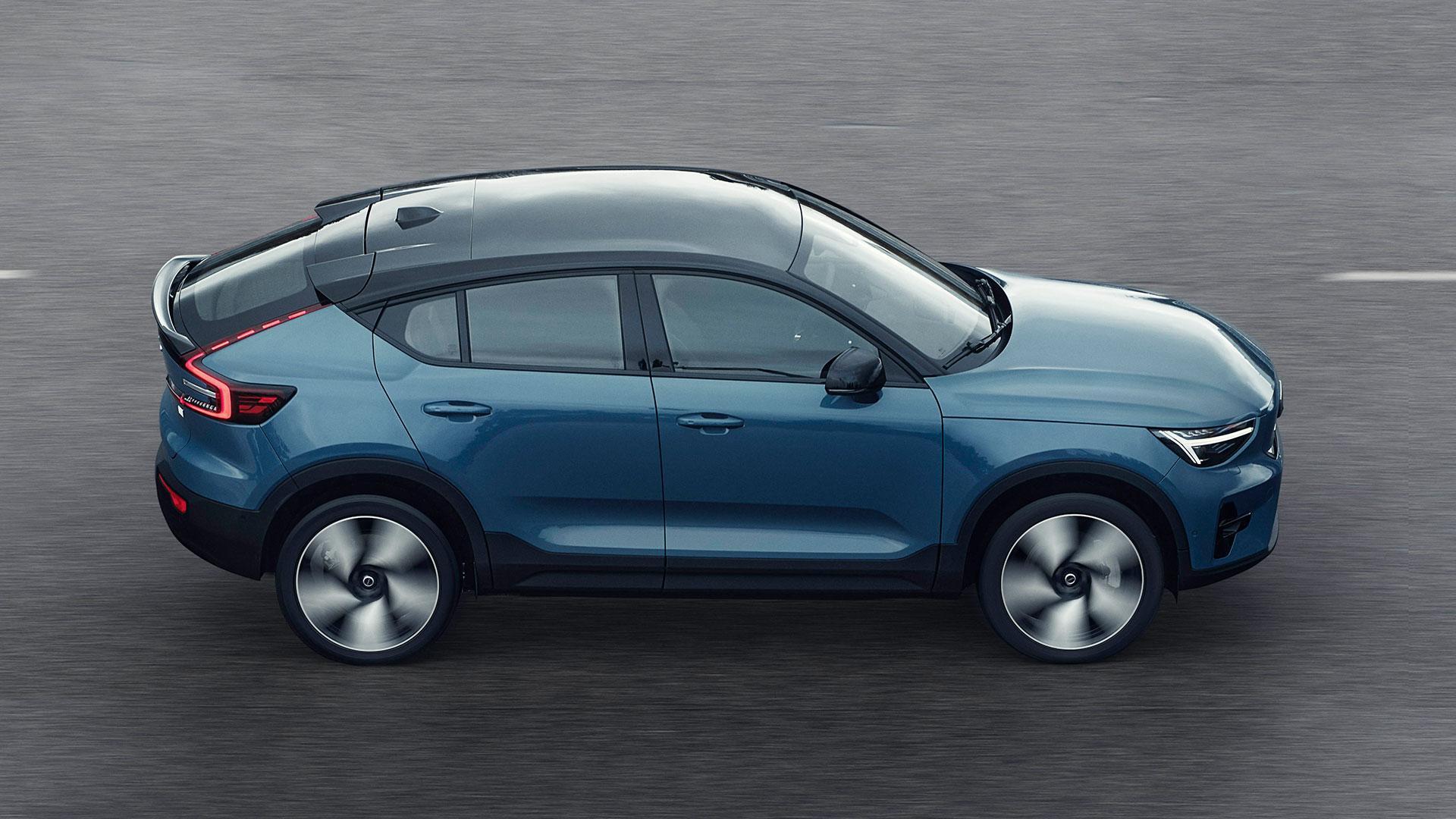 Zijkant Volvo C40 Recharge (elektrische coupe) (2021)