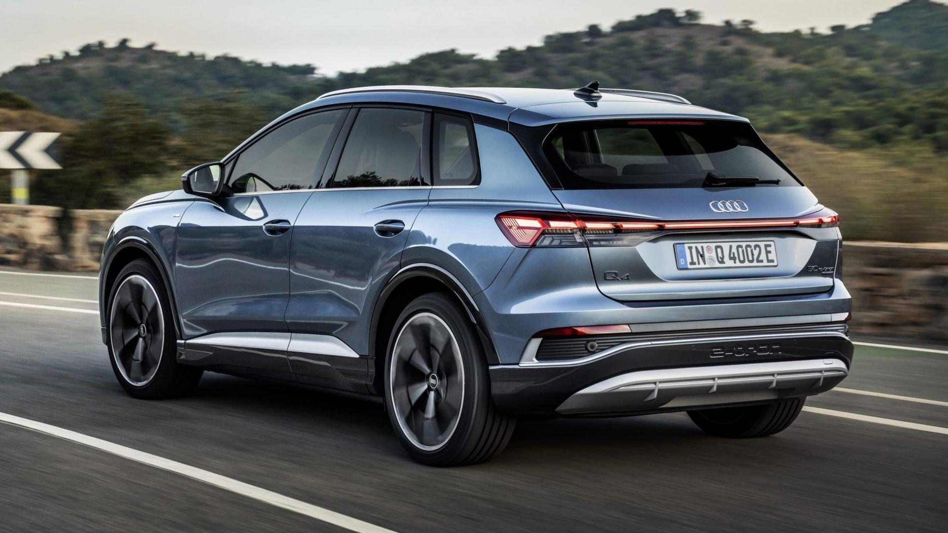 Achterkant Audi Q4 e-tron (2021)