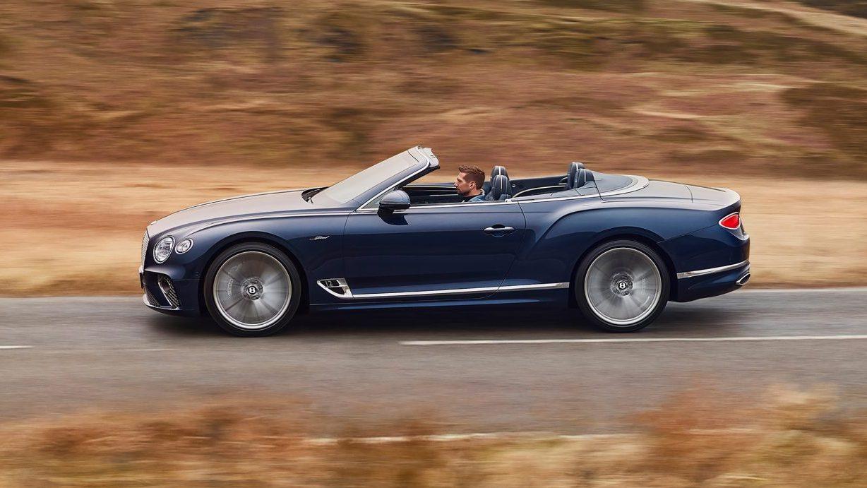 Zijkant Bentley Continental GT Speed Convertible
