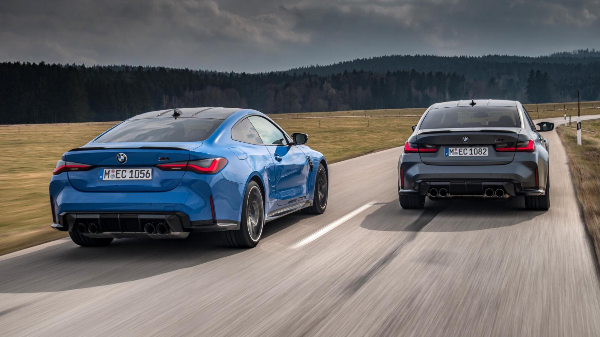 BMW M3 xDrive en M4 xDrive achterkant