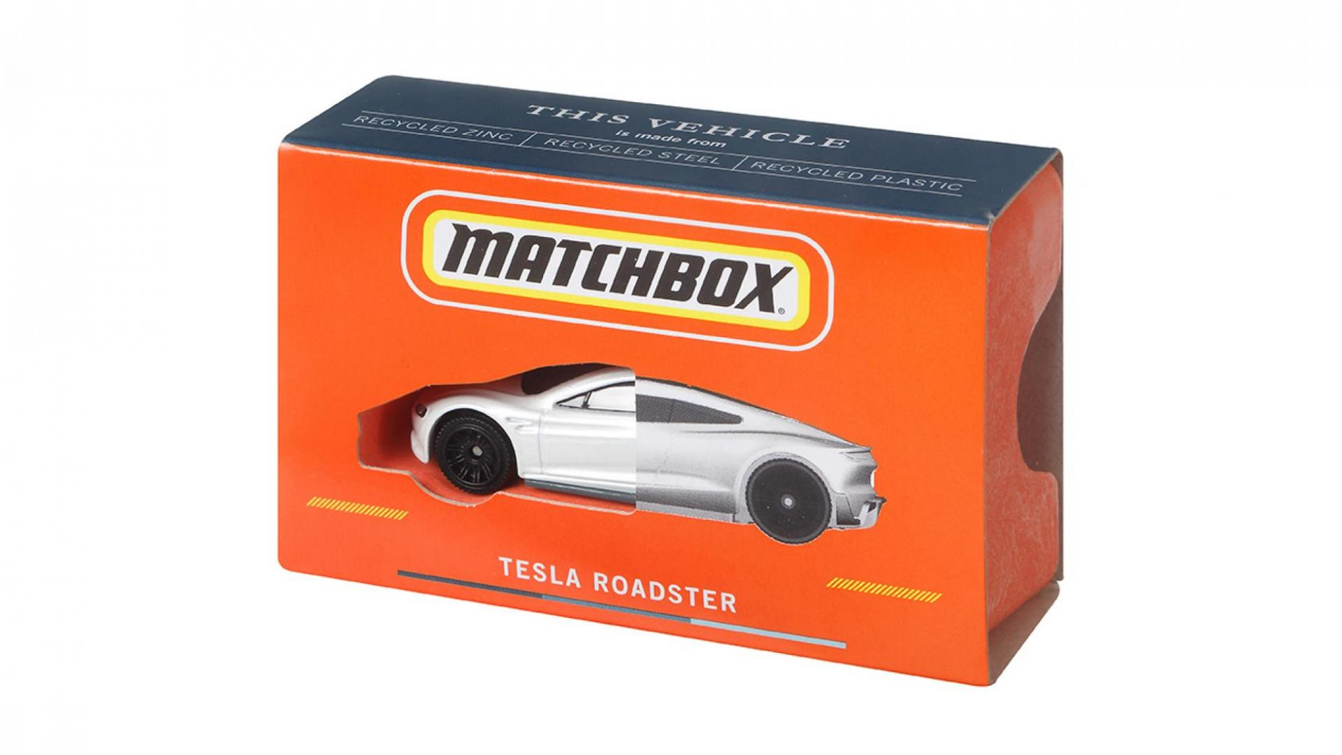 Matchbox Tesla Roadster is CO2-neutraal geproduceerd