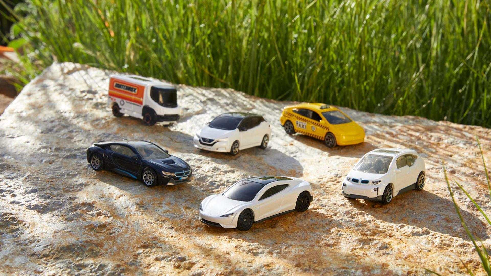 Matchbox-schaalmodellen van elektrische auto's