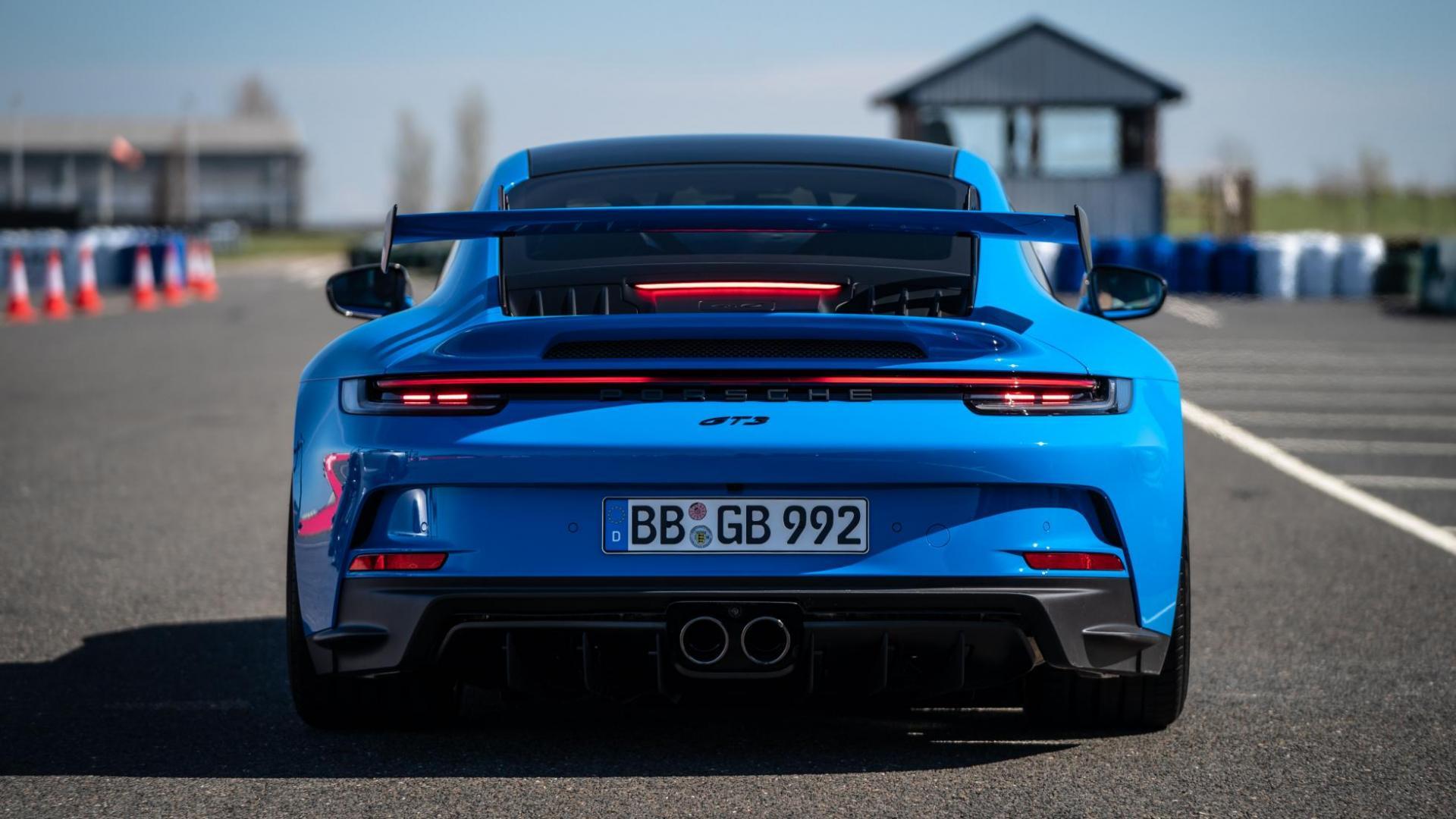 Achterkant, remlichten en uitlaat Porsche 911 GT3 (2021)