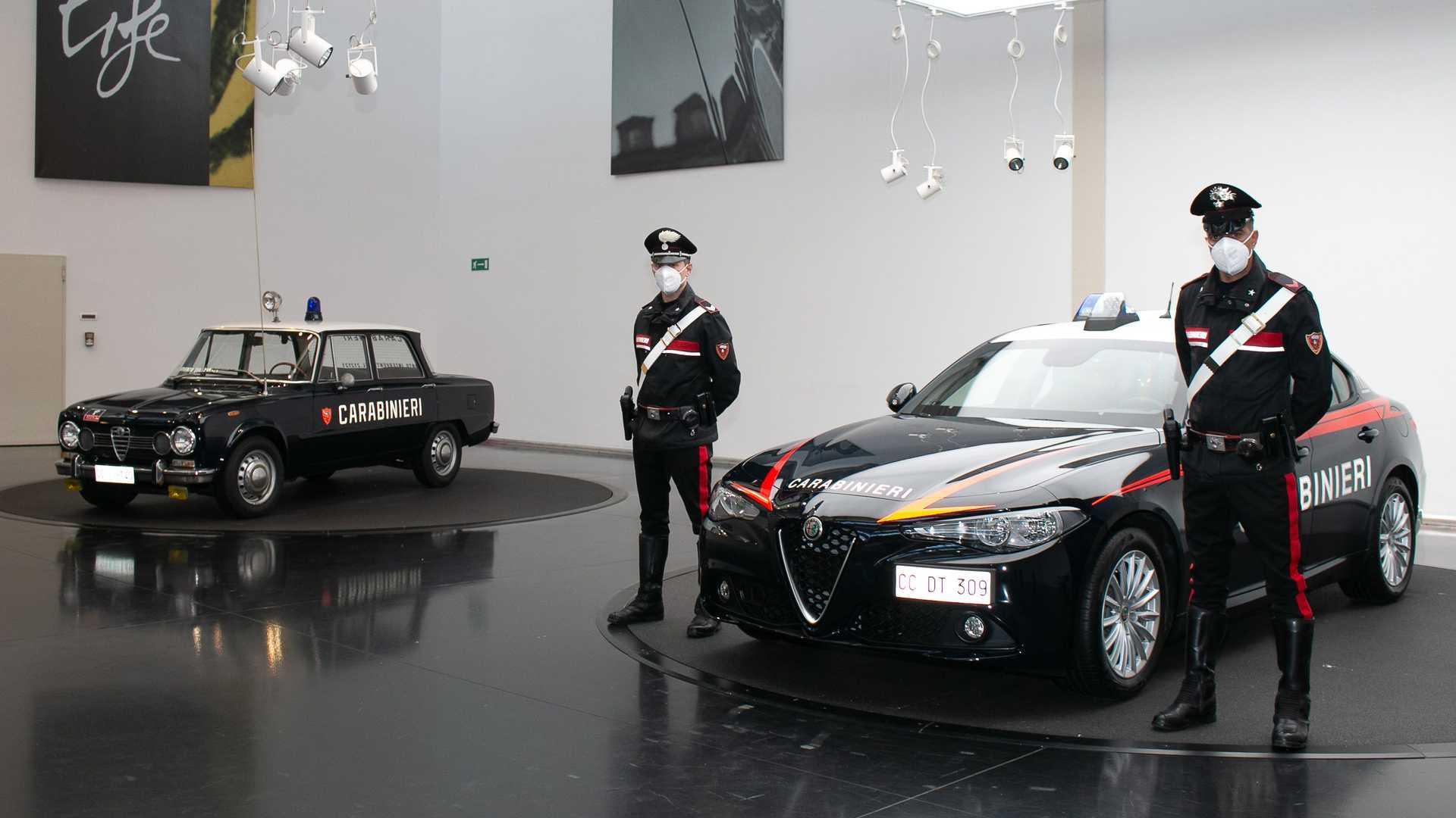 Alfa Giulia's voor de Carabinieri