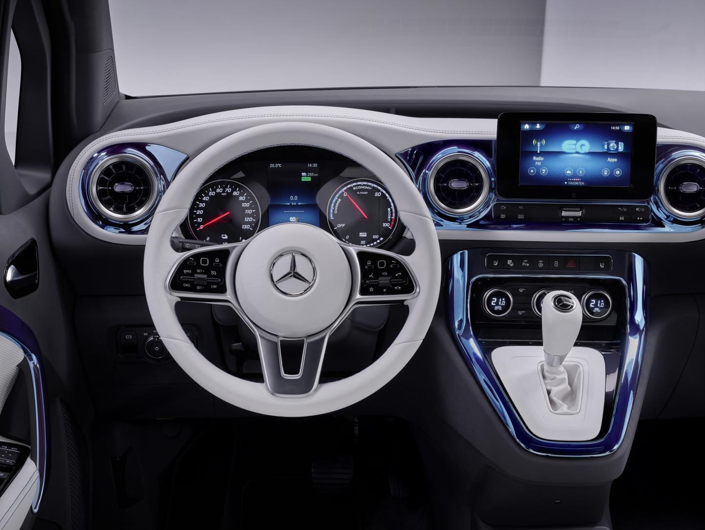 Stuur Mercedes EQT: elektrische T-klasse