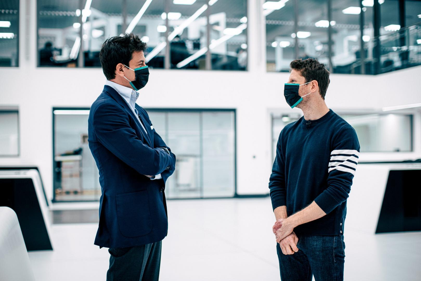 Toto Wolff en Romain Grosjean