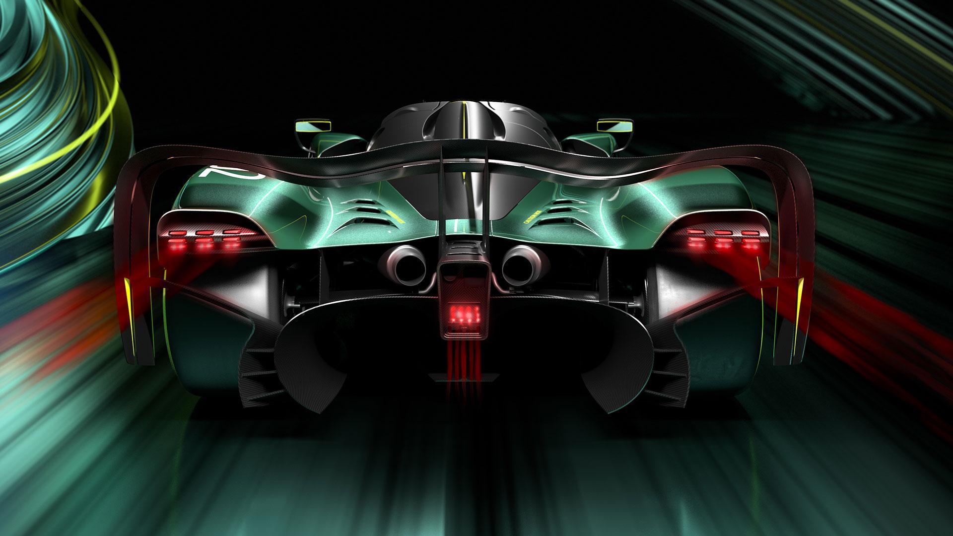 Achterkant Aston Martin Valkyrie AMR Pro