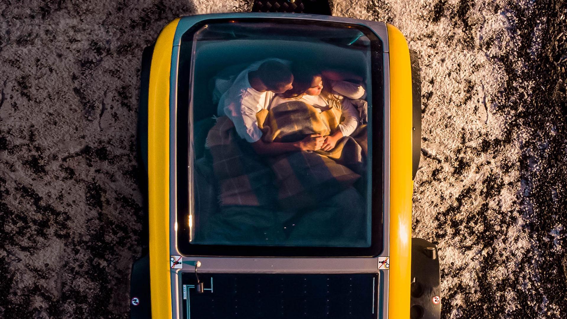 bovenkant Mink minicaravan