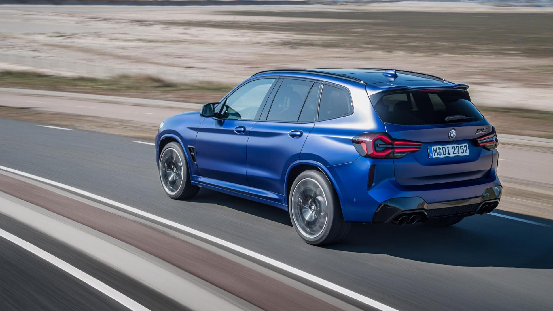 BMW X3 M Competition facelift (2021) blauw