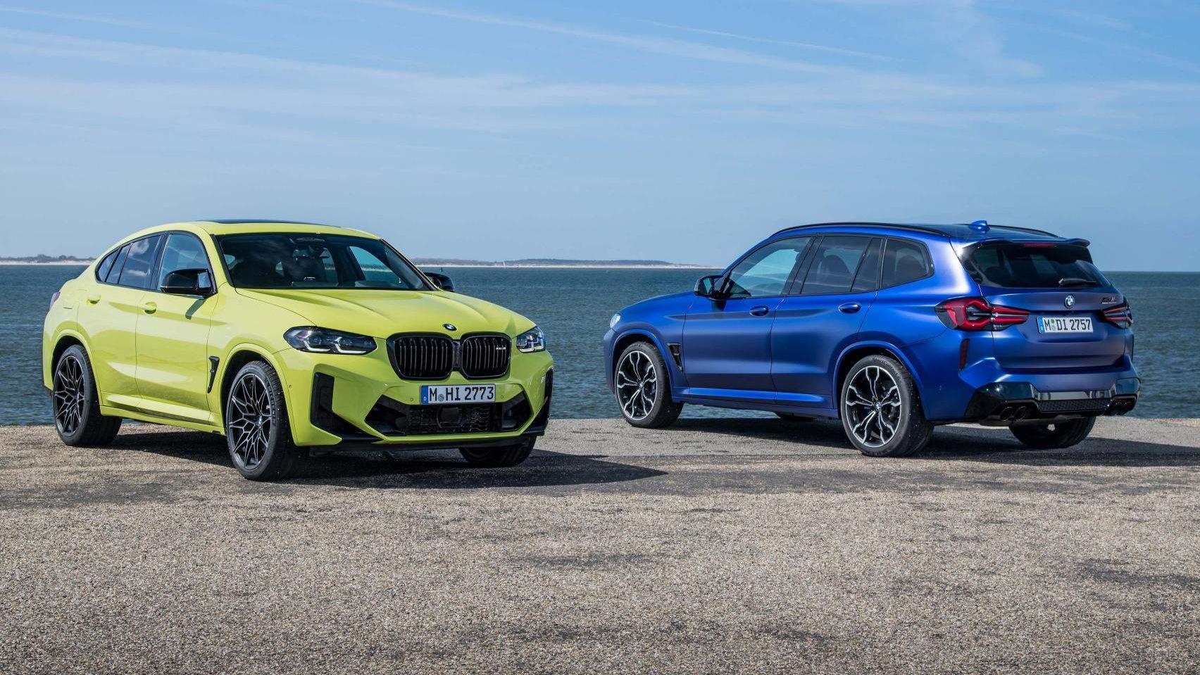 BMW X4 en X3 M Competition