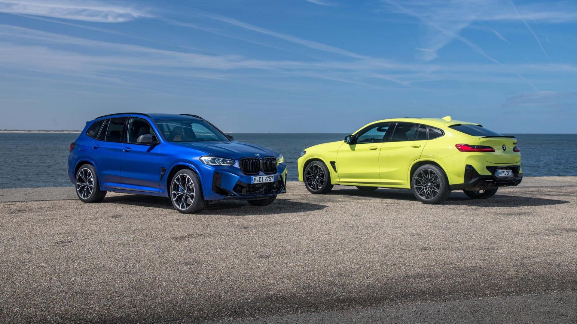 BMW X4 en X3 M Competition Facelift (2021)