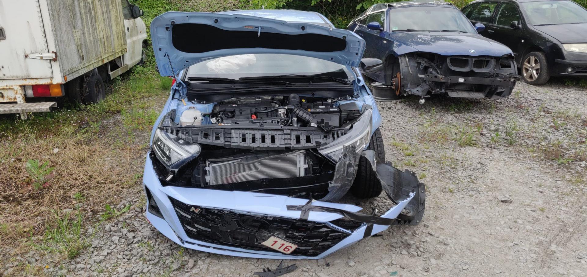 Hyundai i20 N crash