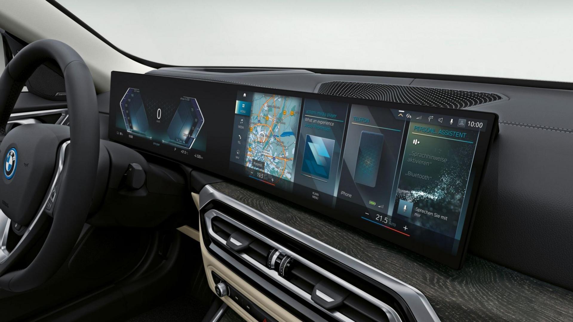 BMW i4 M50 (2021) scherm in het interieur