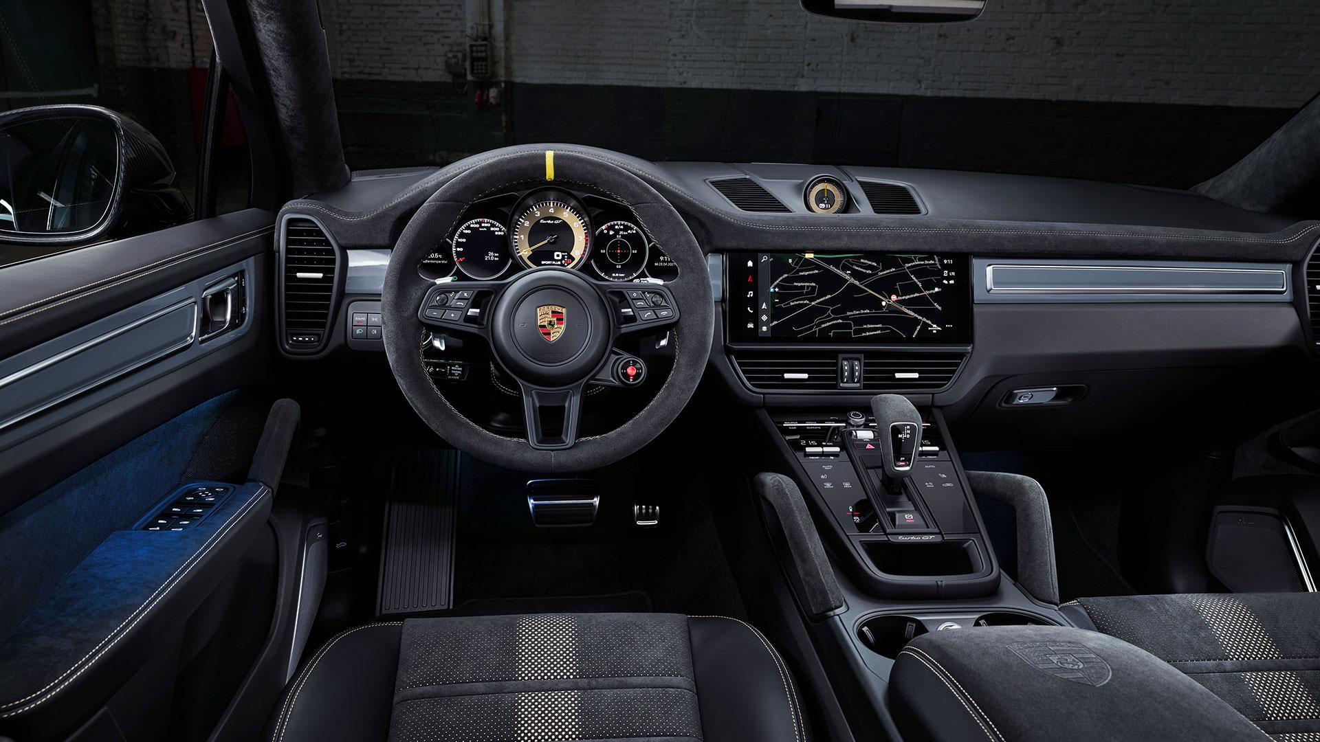 Dashboard en interieur Porsche Cayenne Turbo GT