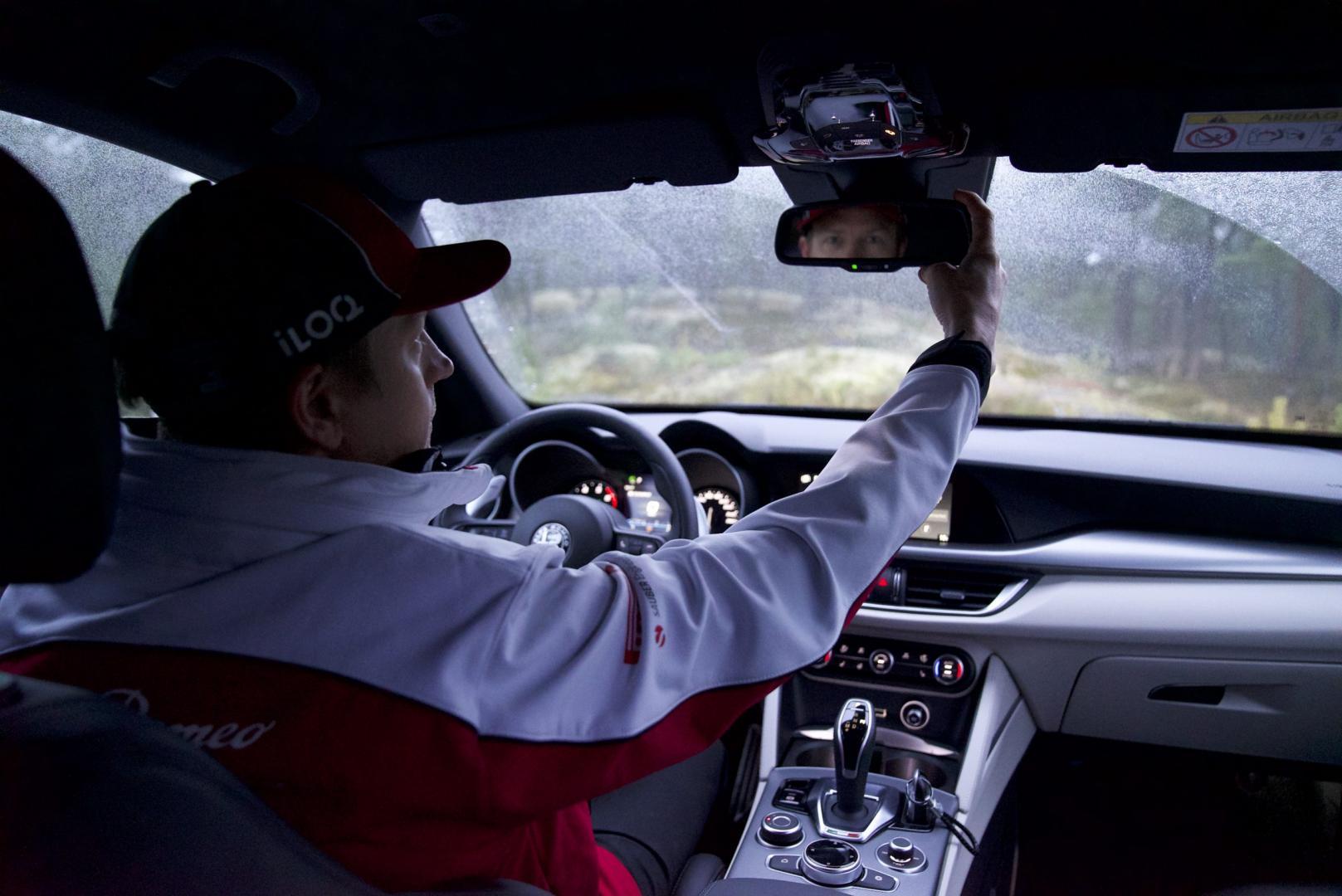 Alfa Romeo Stelvio van Kimi Räikkönen
