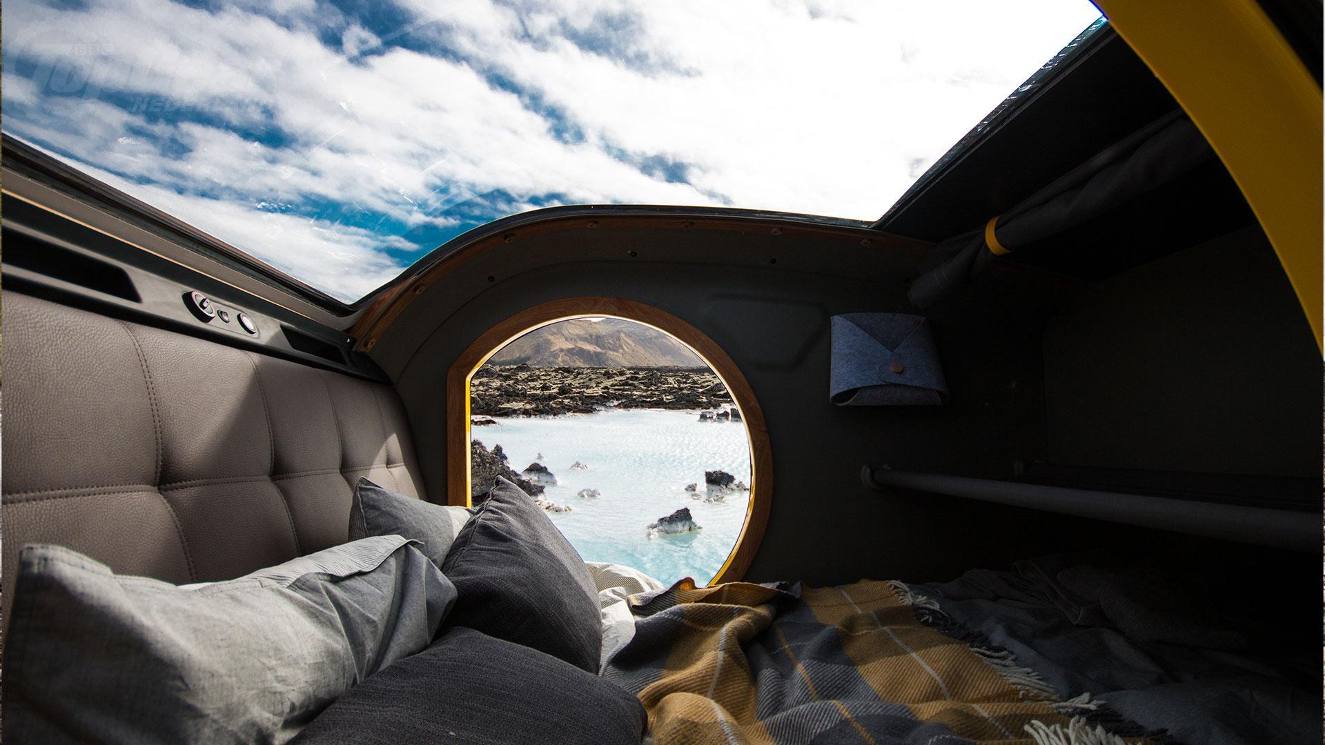 uitzicht Mink minicaravan