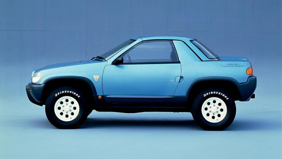 Zijkant Nissan Judi (1987)