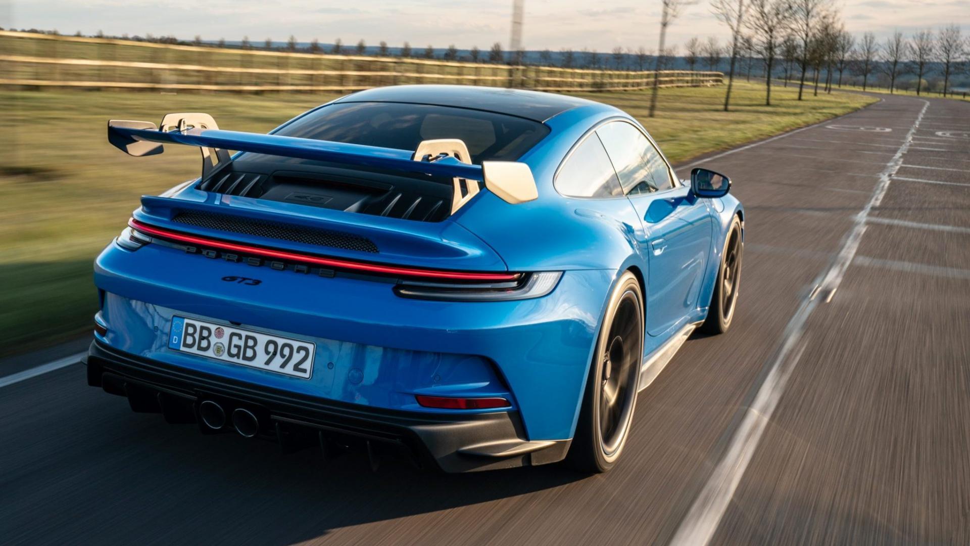 Achterkant Porsche 911 GT3 (992)