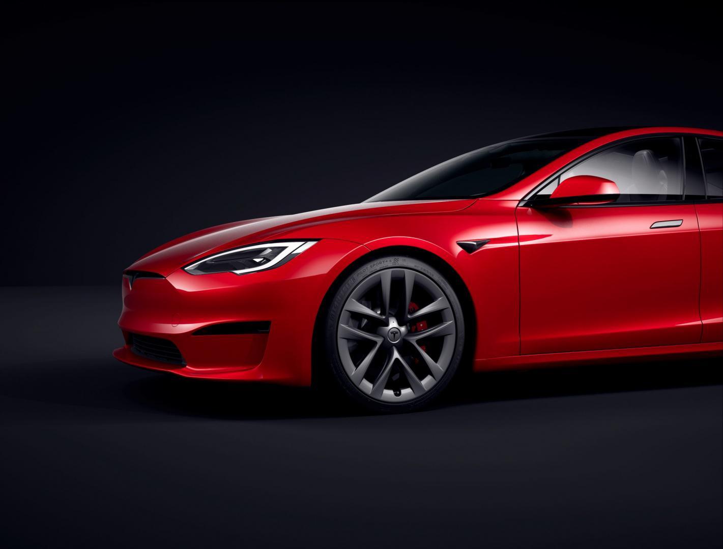 Voorkant Tesla Model S (2021) Facelift