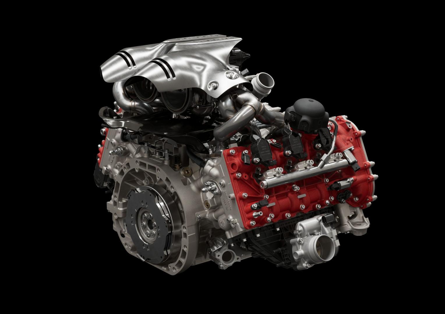 V6-motor Ferrari 296 GTB