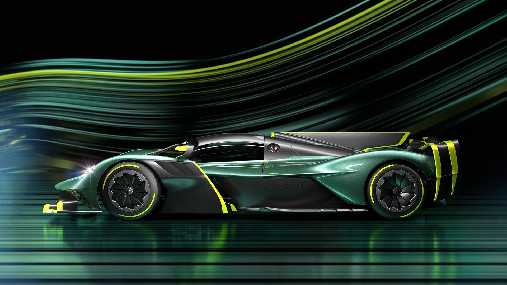 Zijkant Aston Martin Valkyrie AMR Pro