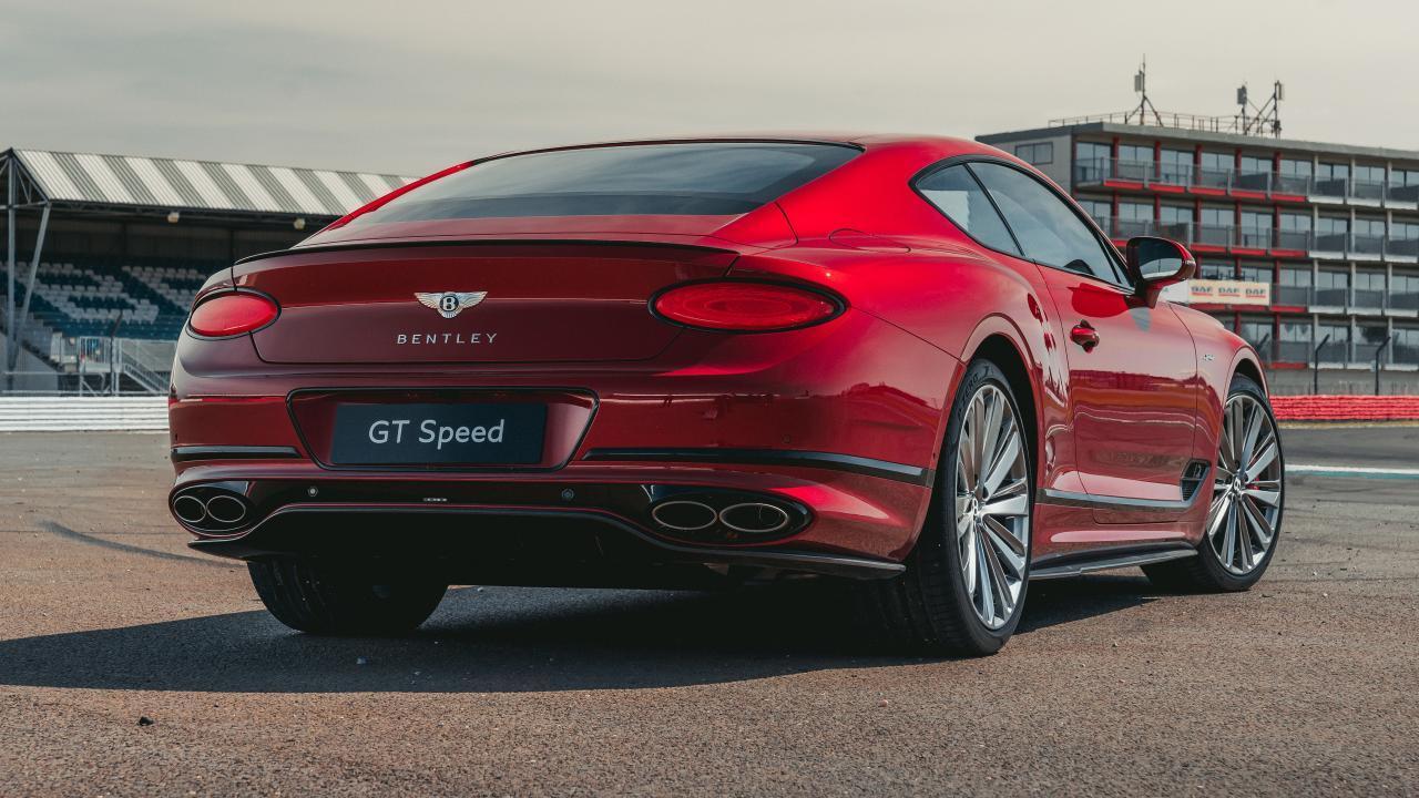 Achterkant Bentley Continental GT Speed
