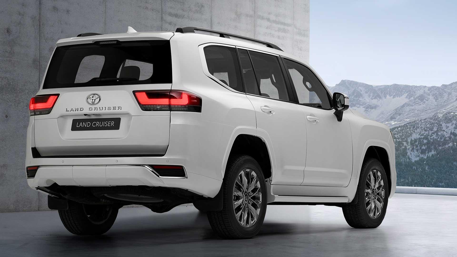 Achterkant Nieuwe Toyota Land Cruiser 300 (2021)