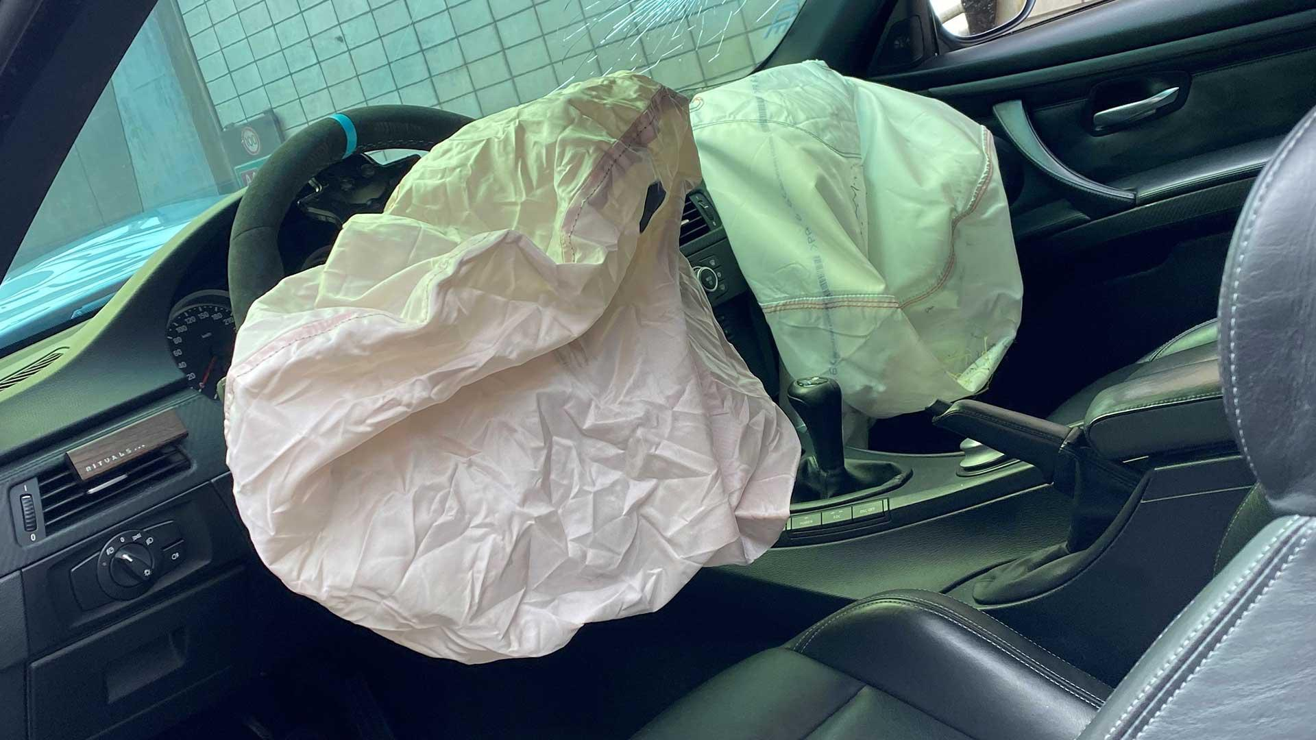 Airbags BMW M3 (E92 V8) in de Beneluxtunnel