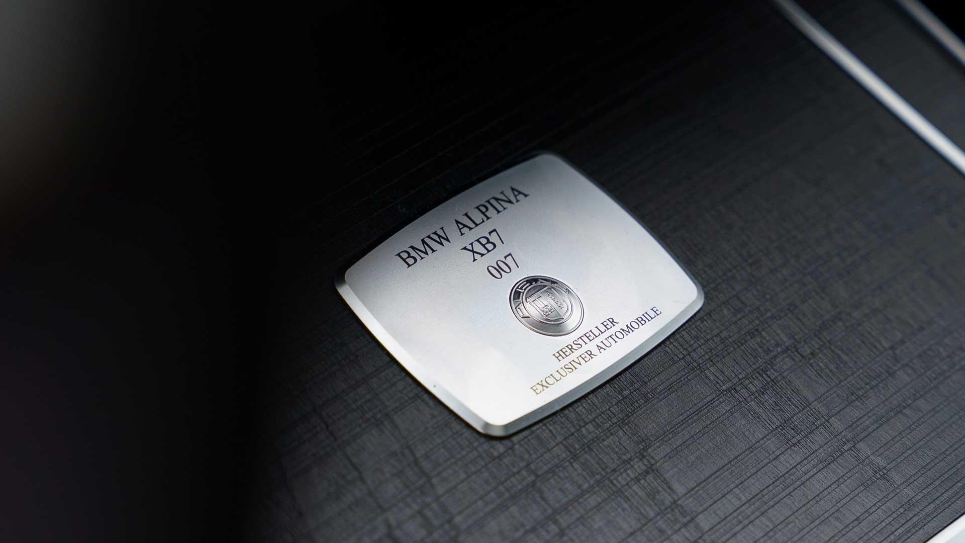 Nummer Alpina XB7 Nederland (BMW)